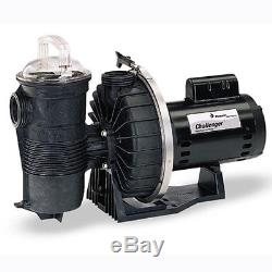 Pentair Challenger 1 HP Up Rated High Flow Inground Swimming Pool Pump 343233
