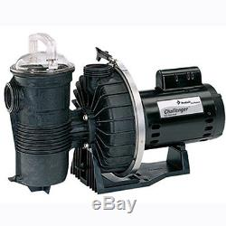 Pentair Challenger 2HP High Flow Up-Rated Inground Swimming Pool Pump 343240