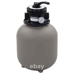 Pool Pumps Sand Filter with 4 Position Valve Gray 1.4 Pool Filter Spa Filter