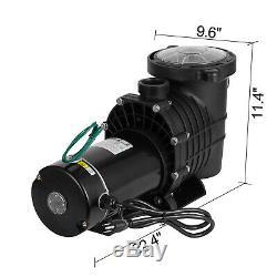 Portable 115/230V 1.5HP Swimming Spa Pool Pump Motor Strainer above Inground