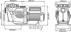 Reliant VSF 1.5 HP Variable Speed Inground Pool Pump 230v
