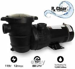 Rx Clear Radiant 19 Above Ground Swimming Pool Sand Filter System with 1 HP Pump