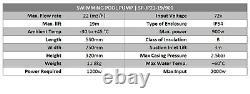 Solar Pool Pump Jintai Cheers China Tesla JP21-19 72V 900W GPM 92 with Solar