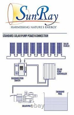 Solar Pool Pump SolFlo4 with 8 PV SOLAR POWER 240 Volts DC 3.5HP DC POOL PUMP