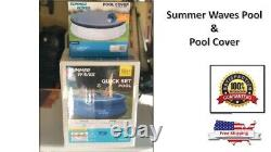 Summer Waves 10'x30 Quick Set Ring Ground Pool with Filter, Pump, Pool Cover