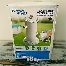 Summer Waves 1000GPH Universal Filter Pump for Above Ground Pool Ships Day Of