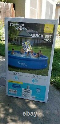 Summer Waves 15' x 36 Quick Set Ring Ground Pool with 600 GPH Filter Pump