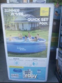 Summer Waves 15'x36 Quick Set Ring Ground Pool with 600 GPH Filter Pump