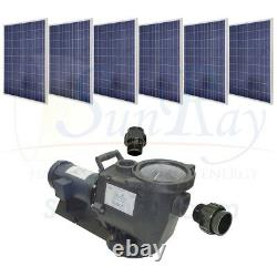 SunRay 1.5HP DC Motor In Variable w 6 Panels 180v Pond Solar Swimming Pool Pump