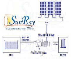 SunRay Solar Powered Pool Pump 1HP 48v to 120v 120 GPM Variable-Speed DC Motor