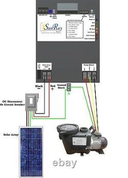 SunRay Solar Powered Pool Pump DC 3.5HP In 16 Panels 240v Pond Brushless Motor