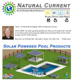 SunRay Solar Powered Pool Pump In Variable with 2 Panels 60v Pond DC 1HP Motor
