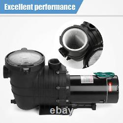 Super Above Ground 2.0HP Swimming Pool Water Pump 110-240V Motor Portable New