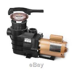 Vevor 1 HP SUPER PUMP SP2607X10 Inground Powerful 110V Swimming Pool Pump