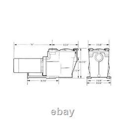 W3SP2605X7 Single Speed 3/4HP Pool Pump, 115/230V Limited Warranty Hayward