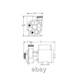WATERWAY 3410030-1E Iron Might 1/15HP Single-Speed Circulating Spa Pump