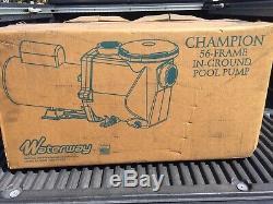 Waterway Champion Inground Pool Pump 230v 1.0hp 2-speed