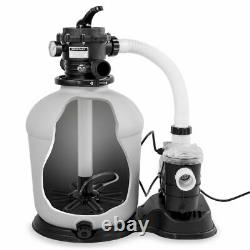 XtremepowerUS Above-Ground Swimming Pool 16 Sand Filter 3100GPH. 75hp Pool Pump